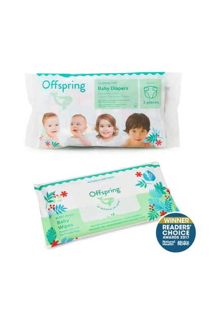 Offspring Natural Fashion Diaper Trial Pack 3pcs - S / M / L / XL