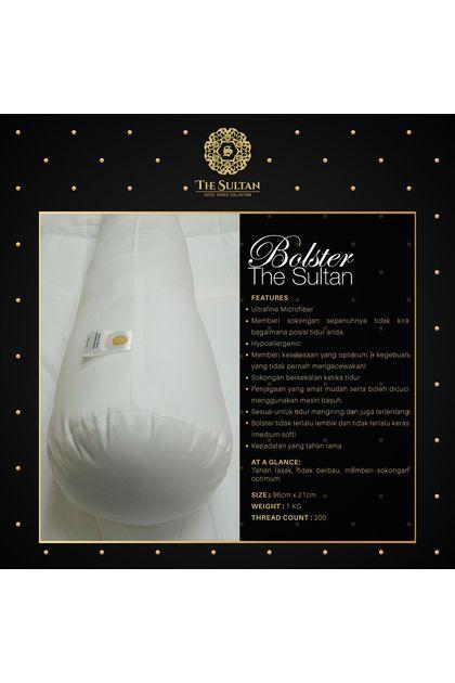 The Sultan Premium Blend Microfiber Bolster - Medium Soft