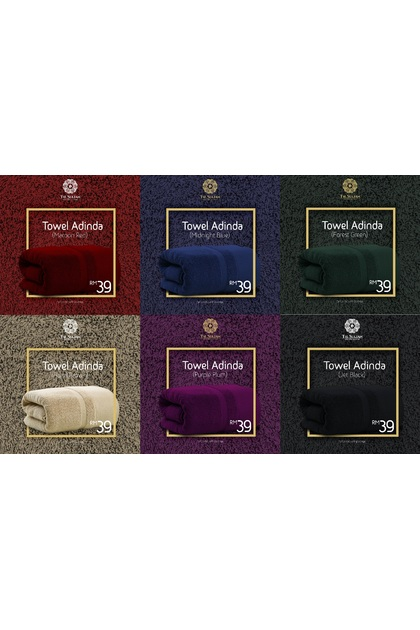 The Sultan Luxury Hotel Towel Color Adinda Bold Series 450g 4 Star Quality