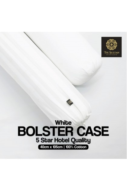 The Sultan White BOLSTER CASE 5 Star Hotel