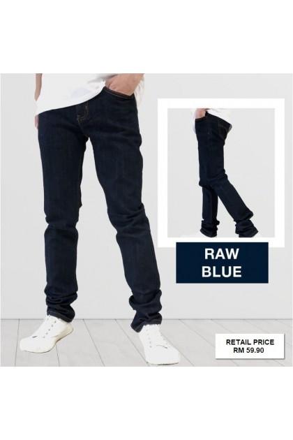 Lush Raw Blue Denim Men's Slim Fit Jeans